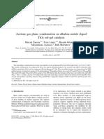 Acetone gas-phase condensation on alkaline  metals doped TiO2 sol-gel catalysts