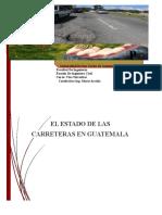 Ensayo condición de las carreteras en Guatemala