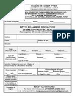 Ficha Inscripción Xxiv Encuentro Nacional Pf 2019 - Eclesial