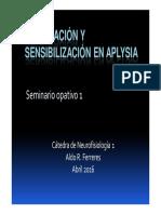Habituación y sensibilización en aplysia Ferreres