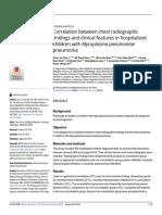 Correlation Between Chest Radiographic