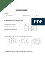 Ficha de Numeros e Operações Divisão e Fracoes