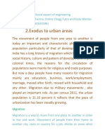 Exodus to Urban Area and Migration