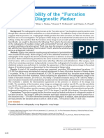 Clinical Reliability of the Furcation Arrow as a Diagnostic Marker
