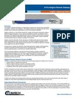Comtech/EFData H-Pro Heights Remote Gateway Datasheet