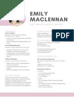 Emily Maclennan - CV