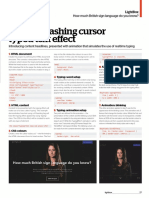 Create Flashing Cursor Typed