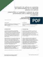 Determicación de Sulfuros