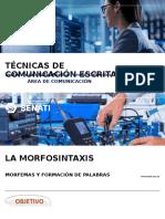 Sem1 La Morfosintaxis 2019-Adm