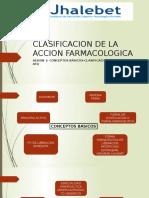 clasificacion dela accion farmacologica