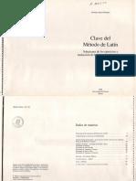 Método de Latín, Clave-Santiago Segura