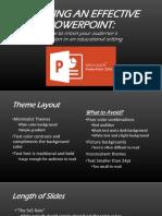 effective powerpoints for educators