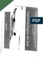 TEXTO 1. SOUZA, Boaventura Santos, Da Colnialidade a Descolonialidade in Epistemologias Dos Sul