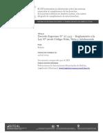 Bolivia Decreto Supremo Nro 27443 2004