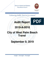 West Palm Beach travel audit report