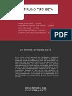 Motor stirling tipo beta