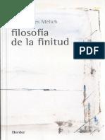 Filosofía de La Finitud - Joan Carles Melich