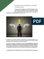 La Importancia de La Información Para La Toma de Decisiones en Una Empresa