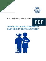 programa de fortalecimiento del buen trato al usuario de establecimientos de salud