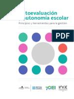 Autoevaluación y Autonomía Escolar... INEE