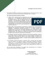 Minuta Matricula Provisoria 2012