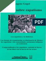 GOGOL, Eugene, Ensayos Sobre Zapatismo