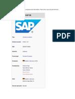 Cargue Sde Documento SAP