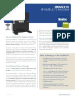 Newtec MDM2210 on the Newtec Dialog Platform Datasheet