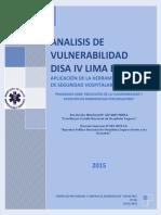 Plan Analisis de Vulnerabilidad de La DISA IV Lima Este 2015