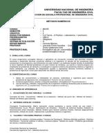 Silabo Modelo ABET MetodosNumericosFIC 2019-II