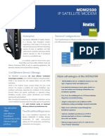 Newtec MDM2500 on the Newtec Dialog Platform Datasheet
