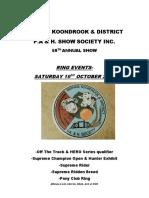 2019 Koondrook Barham Show - Ring Events Schedule