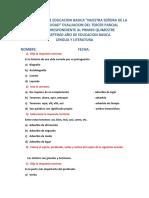 Lengua Tercer Parcial Primer Quimestre Septimo 2019