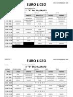 Horario Bachillerato 2018-19
