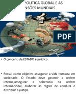 A Geopolítica Global e as Tensões Mundiais