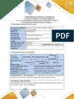 Guía de Actividades y Rúbrica de Evaluación Fase 2- Actividad de Profundización