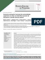 Escala de Evaluación Funcional de Extremidades Superiores en Niños Con Distrofia Muscular de Duchenne y Atrofia Músculo Espinal