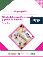 Cuadernillo de Preguntas - Formulacion Evaluacion y Gestion de Proyectos - Saber Pro 2018