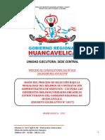 PROCESO DE CONVOCATORIA CAS Nº 010-2019 SEDE CENTRA GOBIERNO REGIONAL DE HUANCAVELICA.