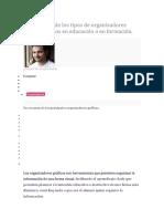 Un Resumen de Los Tipos de Organizadores Gráficos Usados en Educación o en Formación
