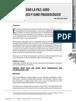 PENSAR Y ACTUAR LA PAZ GIRO Epistemológico y Praxiológico