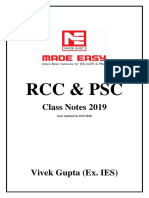 RCC & PSC Class Notes