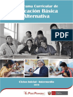 Programa Curricular de Educación básica alternativa