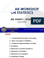 Refresher Course for Statistics