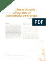 Herramientas de apoyo para un Administrador de Empresas