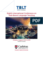 TBLT 2019 Ottawa Conference Program Aug. 6