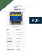 Batería de Plomo y Ácido Quimica Tarea Taller1