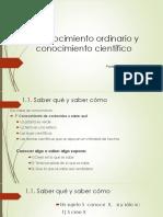 2. Conocimiento Ordinario y Conocimiento Científico