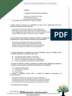 Cuestionario - ESTUDIOS SOCIALES - Decimo