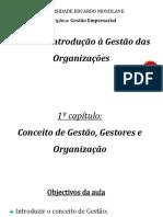 Introdução a gestão